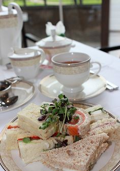 Afternoon Tea in London for Harry and I before the play. We booked a room near the theatre in which to change.