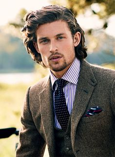 How To Style Long Hair Men Pleasing Herringbone Tweed Is A Versatile Twill That Can Be Worn Formally And