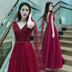 Burgundy Dark Navy New Beading Prom Dresses Long Sexy Evening Dresses 2016 Fashion Tulle Prom Evening Gowns With Sash Prom Dresses Liverpool Prom Dresses Under 150 From Lovecloverdress, $85.93| Dhgate.Com