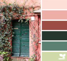 Pinks and Greens (photo courtesy ~ design-seeds.com) #FireAndRain
