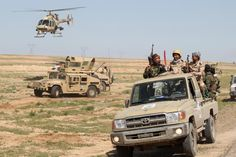 Iraqi troops on the front lines with ISIS in al-Anbar province.