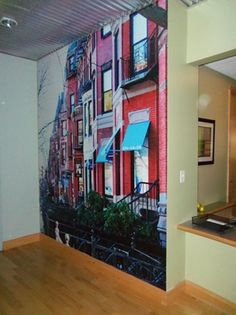 Red buildings by Anne W Boston, MA #fun #office #business #decor