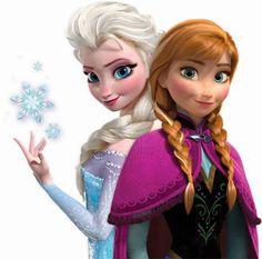 Anna y Elsa protagonistas de frozen