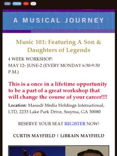 Check out this workshop!!!