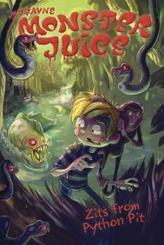 J SERIES MONSTER JUICE. The boys continue their African adventure as a mysterious calling leads them to the heart of the Congo in search of a 'lost' group of monsters. Their expedition is cut short by the appearance of Inkanyamba, an ancient serpent-like creature that has caused the boys' skin to break out in tiny, snake-filled boils.