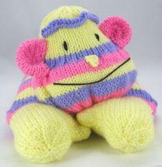 Monkey Pyjama Case Knitting Pattern, Monkey Knitting Pattern, Boys PJ Case Knit, Girls PJ Case Knit, Knitted Bed Decoration by TobyCreates on Etsy