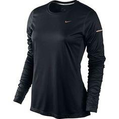 Nike Miler Ls Top Womens BLACK/REFLECTIV