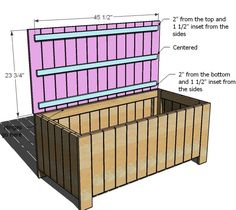 Ana White | Build a Outdoor Storage Bench | Free and Easy DIY Project and Furniture Plans. Or a good toybox - or for me, a good window bench