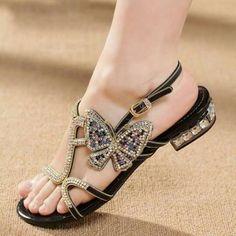 Fashion Real Leather Rhinestone Bowknot Summer Flat Sandals sandals flat  sandals flat sandals sandals for women b4c1c7c204c3