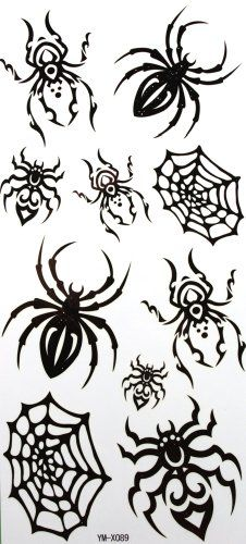 GGSELL YiMei Waterproof temporary tattoos spider insect black Yimei http://www.amazon.com/dp/B007SCM5HE/ref=cm_sw_r_pi_dp_o-kUtb18BKMV7ZBN