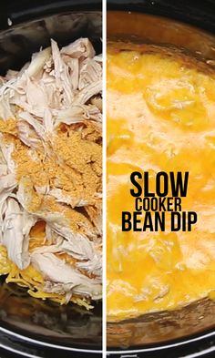 Must try this slow cooker bean and chicken dip immediately!