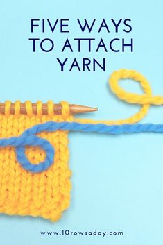 Step-by-step photo and video tutorial about five ways to join a new ball of yarn in a knitting or crochet project. Easy Knitting Projects, Knitting For Beginners, Crochet Projects, Knitting Stitches, Knitting Patterns Free, Free Knitting, Strong Knots, Weird Gifts, Yarn Tail