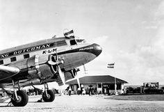 De Dakota Philipsburg van de KLM op de luchthaven van Bonaire