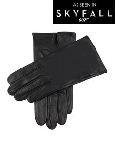 5-1007 Men's unlined leather gloves. Want to unleash your inner secret agent? These classic leather gloves worn by Daniel Craig in the James Bond film Skyfall, are the perfect accessory.