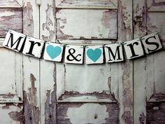 Mr. and Mrs. Wedding signs-wedding banners rustic barn wedding