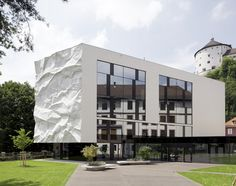 "High School Extension with ""Crinkled Wall"" in Kufstein, Austria, by Johannes Wiesflecker and Karl-Heinz Klopf, 2012"