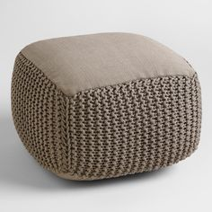 Our handsome gray pouf makes a handy footrest and offers comfy extra seating for guests in favorite indoor or outdoor gathering spots.