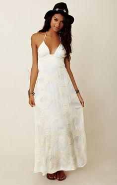 Blu Moon Long Halter Dress