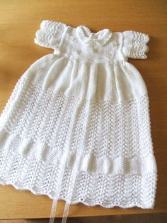 Hand Knitted Christening Gown - Yahoo Image Search results