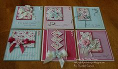 Joyfully Made Designs: One Sheet Wonder 6x6 (Pink) with template and close ups of 6 cards