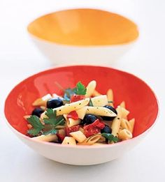 Fresh & Cool Summer Meals: Antipasto Salad  Easy and delicious! I substituted tomatoes for the red peppers and used a little Parmesan instead of mozzarella. And omitted the salami. So sort of this recipe...