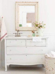Salvage Savvy: DIY Bathroom Vanity Ideas