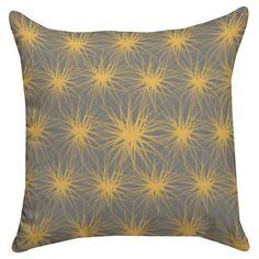 "Thumbprintz Cluster Print Pillow - Yellow (18"" x 18"") : Target"