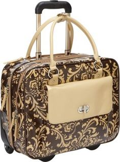 FranklinCoveyBusiness Sonja Rolling Laptop Case Damask - via eBags.com! Rolling Laptop Case, Franklin Covey, Cool Things To Buy, Stuff To Buy, Damask, Cool Stuff, Travel, Cool Stuff To Buy, Viajes