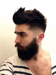 Cabelo, barba e estilo. men hairstyl, beard