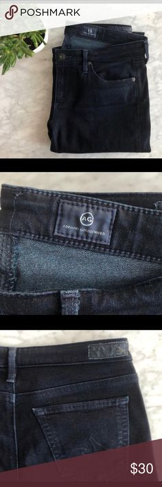 c747712ec9be Anthropologie AG Stevie Slim Straight Jeans SZ 27P Excellent pre-worn  condition. Very dark