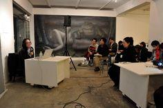 2013年2月22日に開催した特別講座風景。この日の講師は、キュレーター拝戸雅彦氏。