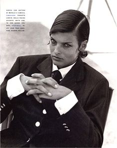 Photo by Peter Lindbergh Linda Evangelista Vogue Italia, settembre 1990