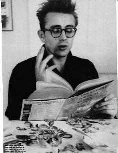 James Dean reading poetry
