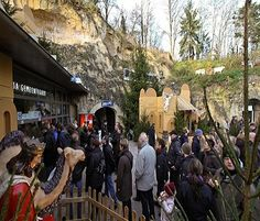 This is the entrance to Christmas Town, Valkenburg aan de Geul, Netherlands ... a Christmas Market held throughout a municipal cave system