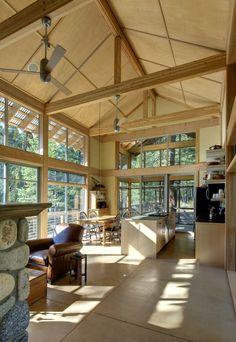 Kitchen and dining room. Foster Loop, by Balance Associates Architects. Mazama, Washington. #kitchen #dining_room