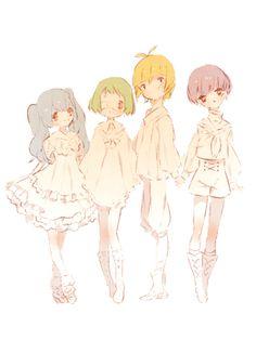 Saiko, Mutsuki, Shirazu, Urie 》Tokyo Ghoul re