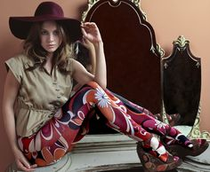 Or, if you'd like something with more pizazz than solid opaques, let Emilio Pucci stir it up for you: