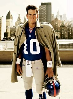 Eli Manning He always loved watching football and the Manning brothers were two favorites. Tom Brady too.