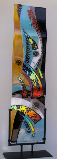Fused Art-Glass Ripple Panel by Suzanne Spalding via her site 'SuzanneSpaldingGlassArt' ♥༺❤༻♥