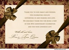 ... Anniversary ideas Pinterest Thank you cards, Anniversary gifts and