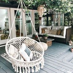 Kinden Hanging Cotton Rope Macrame Hammock Chair Macrame Swing 265 Pound Capacity Handmade Knitted Hanging Swing Chair for Indoor/Outdoor Home Patio Deck Yard Garden Reading Leisure Lounging Hanging Swing Chair, Swinging Chair, Macrame Hanging Chair, Woven Chair, Garden Swing Chair, Hanging Rope, Garden Hammock, Indoor Hanging Chairs, Hanging Lights