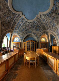 Beautiful Libraries...Vilnius University Library, Lithuania...photo by Vilnius university Library via Flickr.