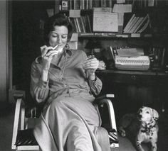 anne sexton with her dalmatian