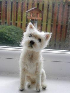 needle felted Westie-Robbie | Flickr - Fotosharing!