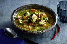 Grünes Hähnchencurry mit Süßkartoffeln Rezept