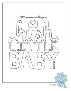 Free nursery printables {Hush little baby} - C.R.A.F.T.