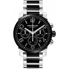 Montblanc - Timewalker Steel and Black Ceramic Chronograph Men s Watch   MensWatches Hodinky Rolex 6f84e9ec898