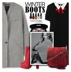 """So Cozy: Winter Boots"" by shoaleh-nia ❤ liked on Polyvore featuring MANGO, Miu Miu, Wild Diva, Edward Bess and Chloé"