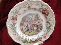 Royal Doulton -  Brambly hedge -  The Birthday -   plate