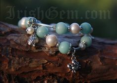 """Blue Lagoon"" Blue Lagoon, Provence, Pearl Earrings, Gemstones, Pearls, Bracelets, Collection, Jewelry, Pearl Studs"
